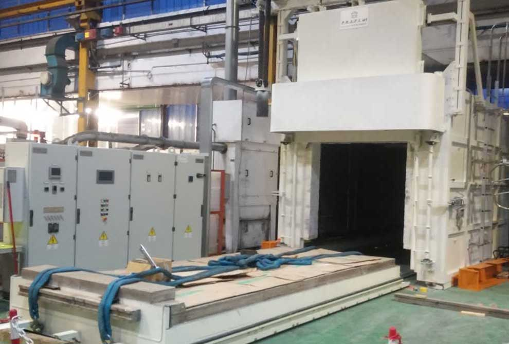 PRAFI Box furnaces. Treatment: Reheating, annealing, age hardening, normalizing, precipitation hardening