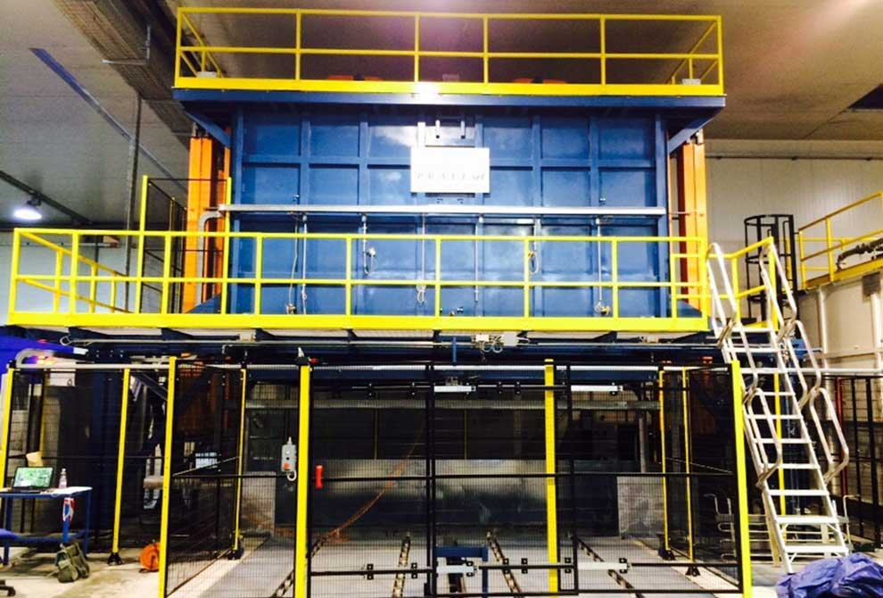 Elevator furnaces for annealing PRAFI