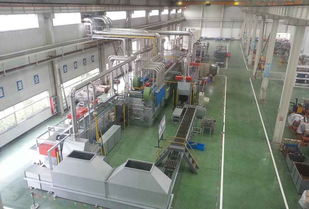 Continuous push furnaces for Burning PRAFI
