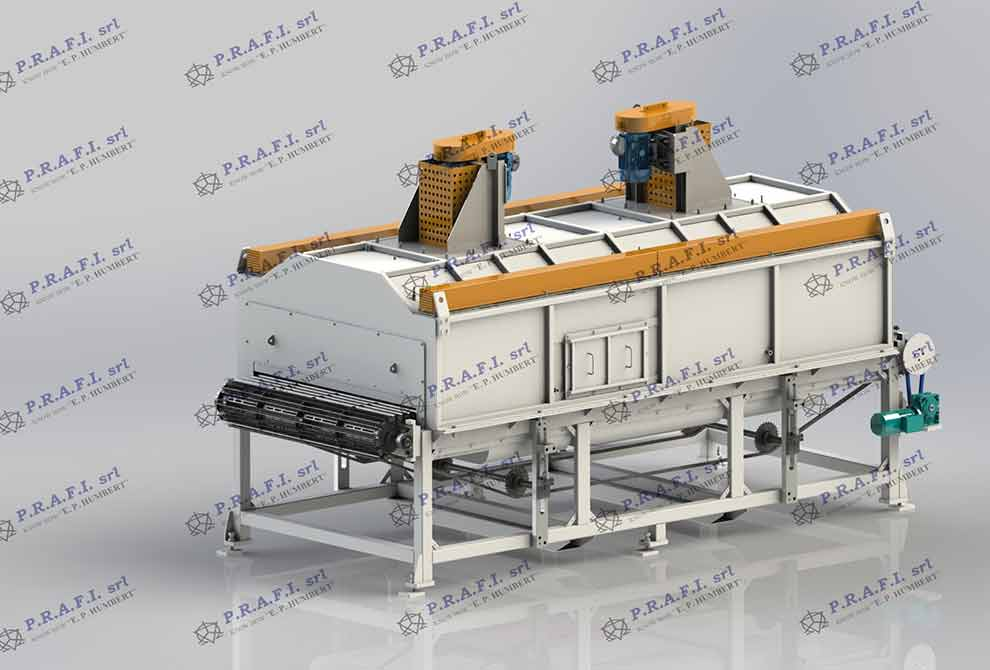 PRAFI Conveyer belt furnaces. Treatment: Reheating